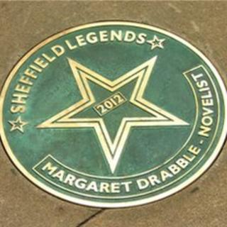 Margaret Drabble plaque on walk of fame