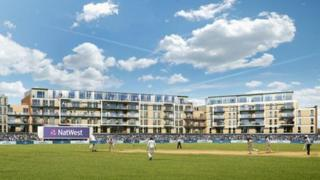 An artist's impression of the new Gloucestershire County Cricket Club