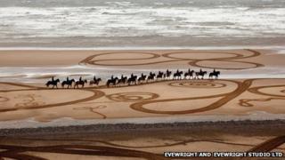 Walking Drawings Cumbrian Heavy Horses