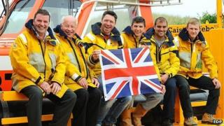 Caister Lifeboat crew get ready for Jubilee pageant (Photo: EDP/James Bass)