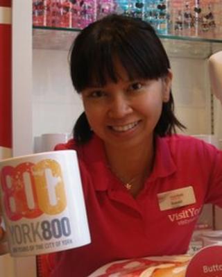 Singaporean Susan Lee is a Mandarin-speaking volunteer at York's tourist information centre