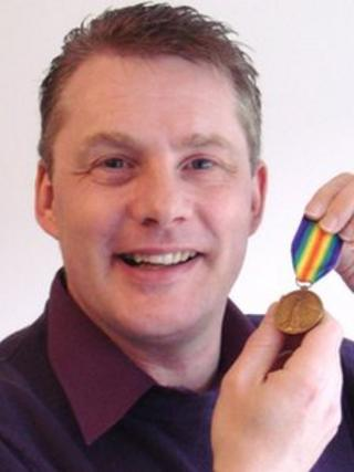 Martin Riley with the medal (Photo: Mark Riley)