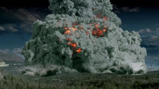 What a supervolcanic eruption may look like