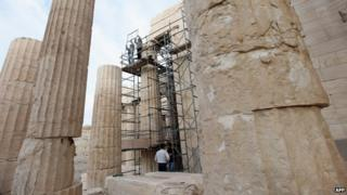 Repairs to the Acropolis