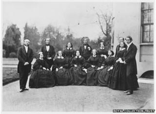 Staff at Frogmore House in 1861