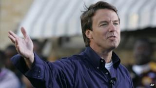 John Edwards announces his candidacy in New Orleans 28 December 2006