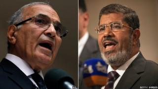 Ahmed Shafiq and Muhammed Mursi