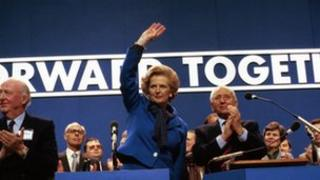 Lady Thatcher addresses Conservative Party conference in 1980