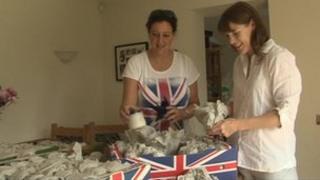 Preparations for Kington St Michael's Jubilee party