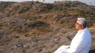 Charan Gill meditating