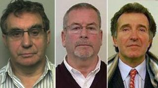 (Left to right) Arthur Ford-Batey, Alan Hunt and Ian Yorkshire who were sentenced for their part in conning Norfolk businessman Graham Dacre out of £12m