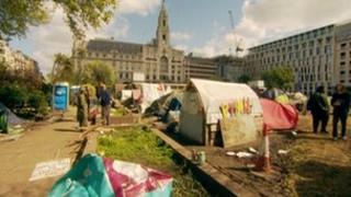 Occupy camp at Finsbury Square