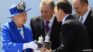 The Queen with Aidan O'Brien