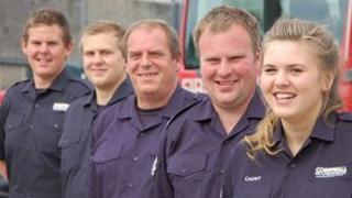 From left; Luke, Brett, Stan, Andrew and Faye Livingstone