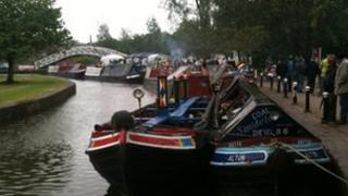 Narrowboats at Etruria
