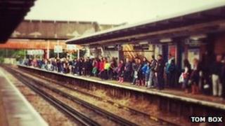 Crowded platform at Twickenham (Pic: Tom Box)