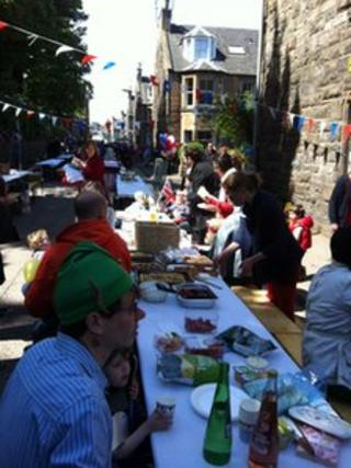 Edinburgh street party - pic by James Cook