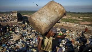 A rubbish picker at Rio's Jardim Gramacho