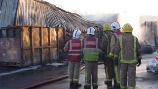 Fire at Biffa Treatment Centre