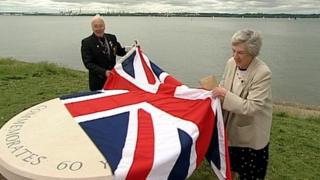 Unveiling Jubilee Table at Netley