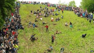 Cheese rolling on Cooper's Hill, Gloucester