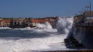 Harbour wall at Eyemouth