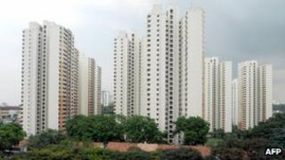 File photo: High-rise residential flats in Singapore