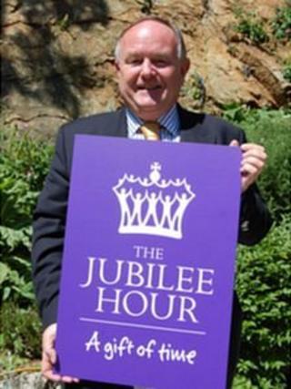 Jubilee hour logo held by Jonathan Haward
