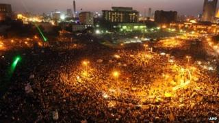 Protesters in Cairo's Tahrir Square. Photo: 5 June 2012