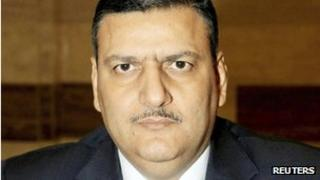 A portrait photo of Riad Hijab provided by the the State-run Syrian Arab News Agency