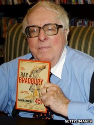 Ray Bradbury, pictured in 2002