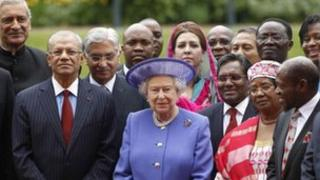 The Queen poses with Commonwealth leaders
