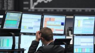 Stock market trader in Frankfurt