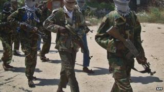 Al-Shabab recruits - March 2012 near Mogadishu, Somalia