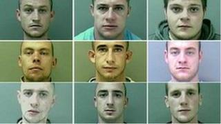 Top row - Andrew Gunningham, Andrew Diprose, Brian Coulton; Middle row - David Threlfall, Jason Diprose, Kenneth Smith; Bottom row - Liam Parkinson, Liam Wiper, Aidan Higgins