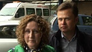 Gillian Moulds and her brother, Andrew Smith