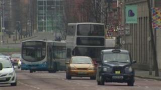 Belfast city centre traffic