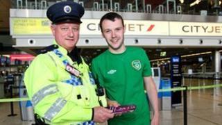 Dublin Airport policeman and Ronan Davis