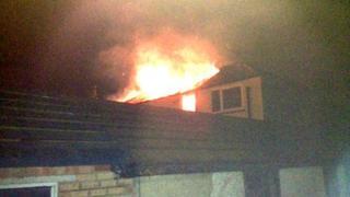 Fire in Carlton Road