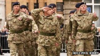 TA soldiers