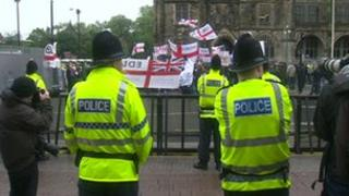 EDL protest in Rochdale