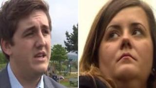 Young councillors Mitchell Theaker, 21, and Jessica Crook, 18