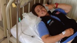 Sarah Outen in hospital
