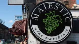 Majestic Wine outlet in Camden, north London
