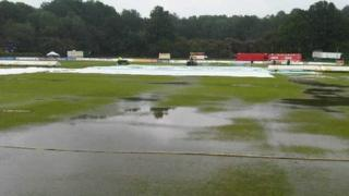 Flooded Nevill ground in Tunbridge Wells