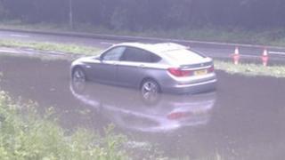 Submerged car in Basingstoke