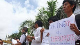 Protest against the Rohingya in Rangoon, 11 June