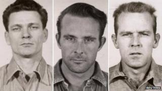 Police photos of Frank Morris, John Anglin and Clarence Anglin