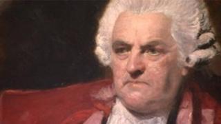 Detail of portrait of Dr John Ash, by Sir Joshua Reynolds