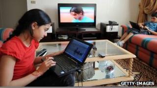 TV on a laptop